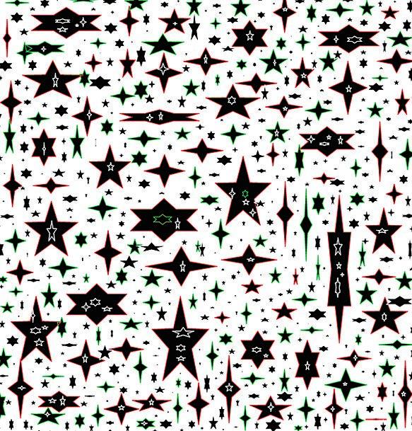 Stars Costars Large Small Minor Big Yule Collage C