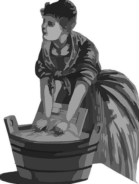 Washing Fashion Lady Beauty Laundry Woman Domestic