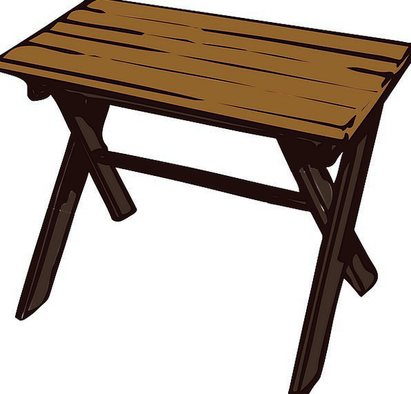 Table Bench Timber Small Minor Wooden Free Vector