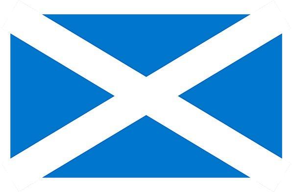 Flag Standard Scottish Scotland Blue Azure White E