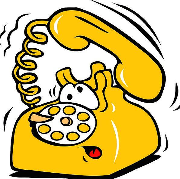 Telephone Phone Rotating Yellow Creamy Rotary Call