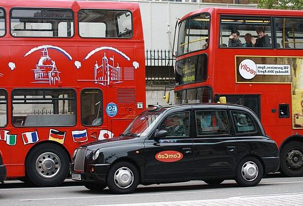 London Traffic Cab Transportation Nero Taxi Transp