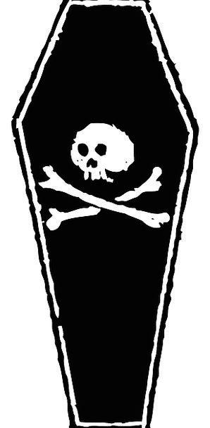 Coffin Box Mind Death Demise Skull Casket Chest Bo