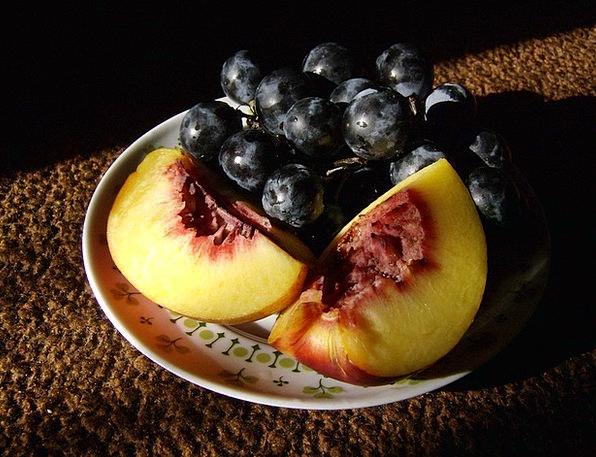 Autumn Fall Drink Food Nectarine Grape Fruit Ovary