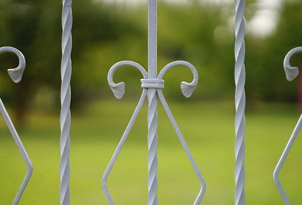 Fence Barrier Firm Curlicue Iron Iron Construction