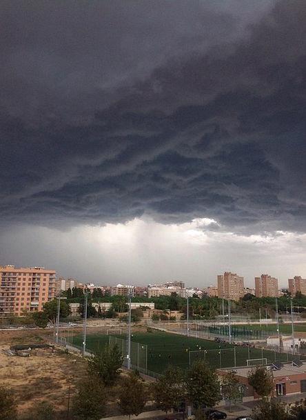 Storm Tempest Landscapes Scenery Nature City Urban