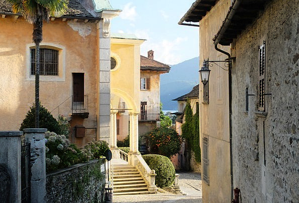 Old Town Buildings Architecture Italy Lake Orta Bu