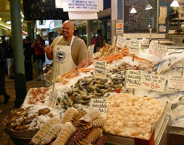 Seafood Finance Marketplace Business Fish Angle Ma