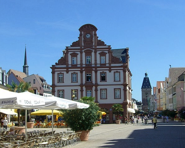 Speyer Old Gate Maximilianstrasse Old Coin Street