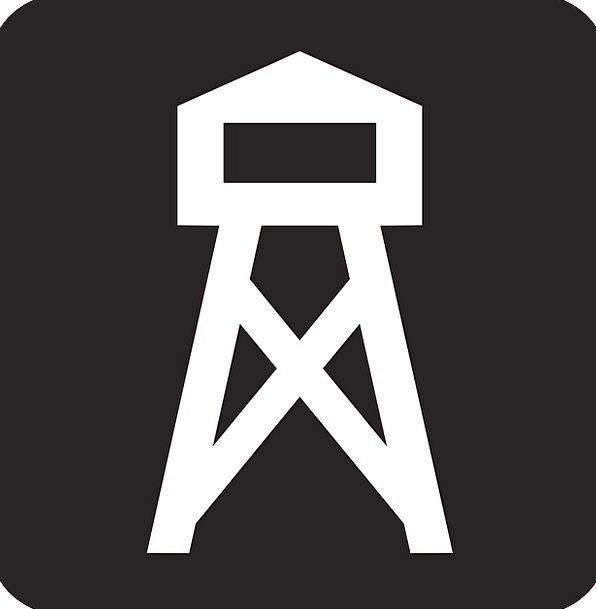 Lookout Tower Watch Tower Watchtower Black Dark Sy