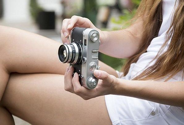 Girl Lassie Photographs Photos Camera Retro Period