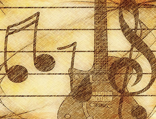 Music Melody Treble Clef Guitar Sound Complete Ton