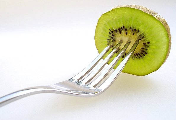 Kiwi Drink Ovary Food Fruits Ovaries Fruit Fork Di