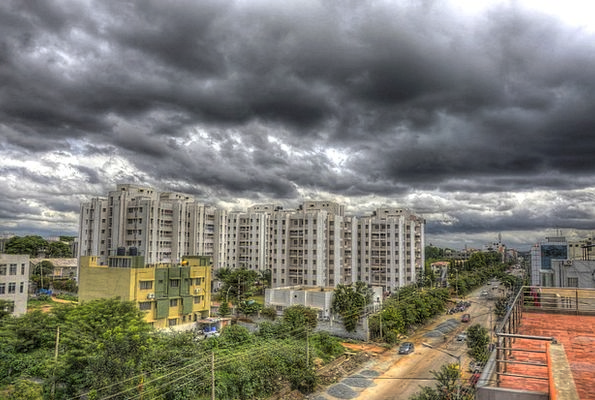Bangalore Landscapes Nature High Rises Rain Clouds