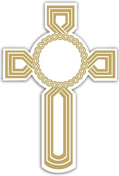 Cross Irritated Excellent Christian Golden Crucifi