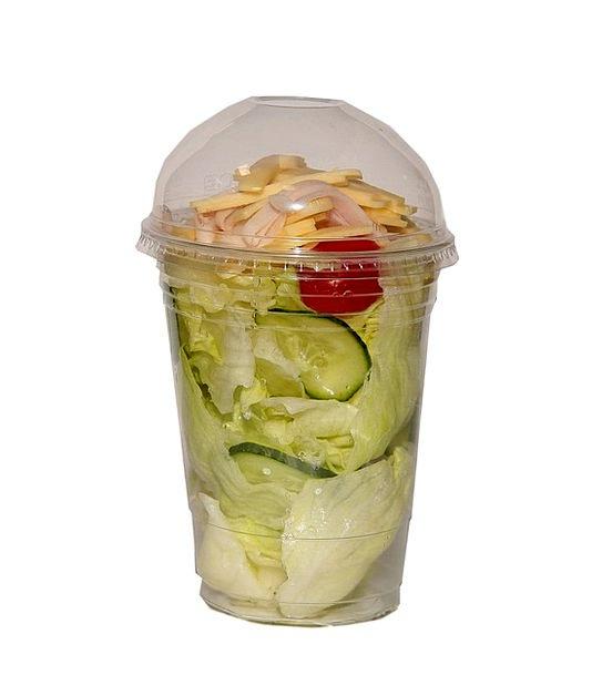 Fast Food Drink Food Finish Salad Salad Plastic Pa