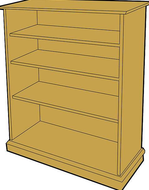 Bookcase Ledge Bookshelf Shelf Shelves Defers Free