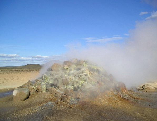 Volcano Hot Warm Volcanism Sulfur Steam Iceland Va