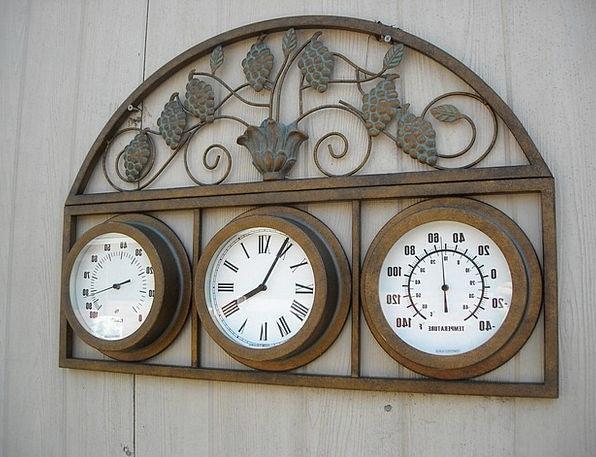 Copper Fever Clock Timepiece Temperature Humidity