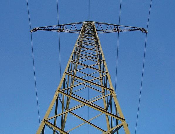 Current Present Pylon Tower Strommast Power Line