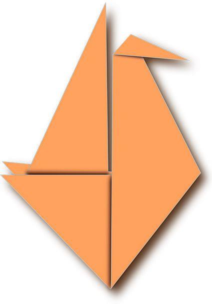 Paper Newspaper Carroty Bird Fowl Orange Folded Fo