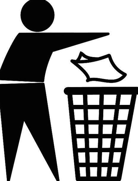 Man Gentleman Flinging Trash Garbage Throwing Litt