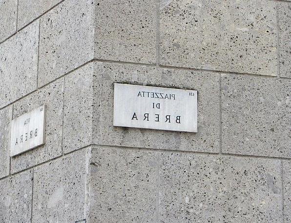 Sign Symbol Milan Street Brera Italy Place Panel H