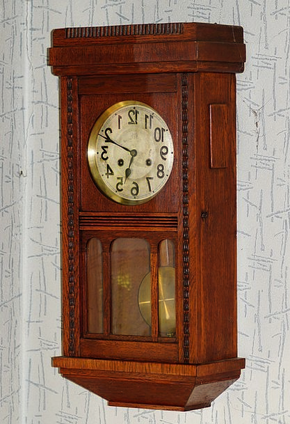 Wall Clock Old Wood Timber Antique East Frisian Cl