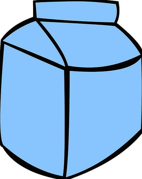 Milk Carton Set Milk Exploit Package Carton Blank