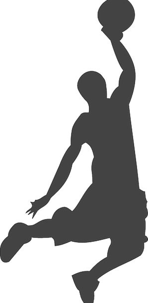 Silhouette Outline Player Actor Basketball Activit