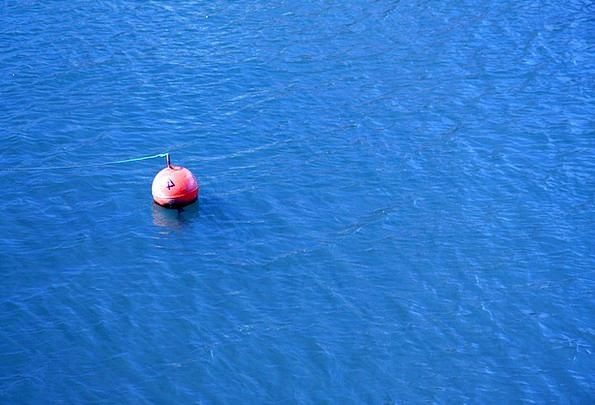Blue Azure Vacation Marker Travel Float Drift Buoy