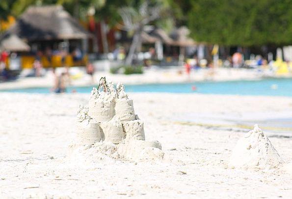 Sand Shingle Vacation Travel Summer Straw-hat Whit