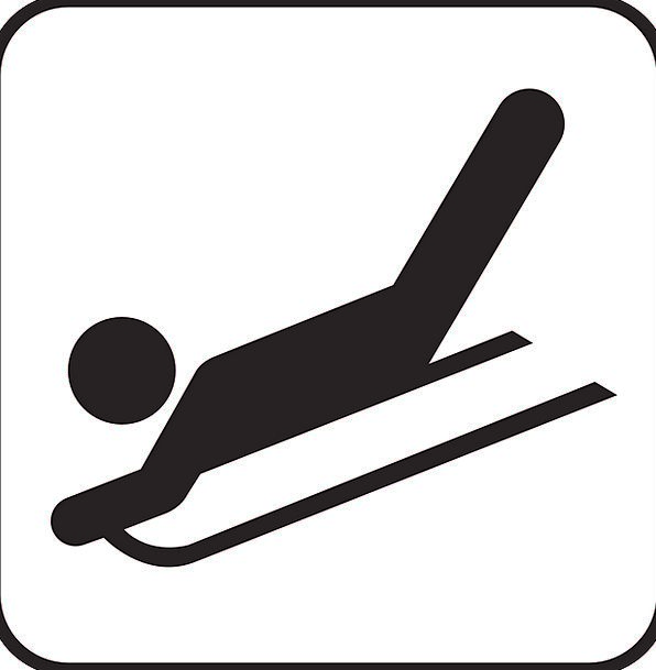 Sled Bobsled Slip Tobogganing Sledging Skid Sign S