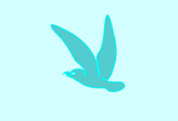 Bird Fowl Azure Flying Hovering Blue Lonely Silhou