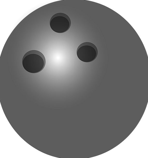 Bowling Careening Sphere Black Dark Ball Action Re