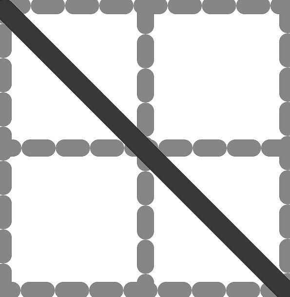 Diagonal Slanting Streak Table Bench Line White Di
