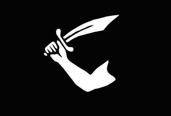 Flag Standard Buccaneer Black Dark Pirate Arm Supp