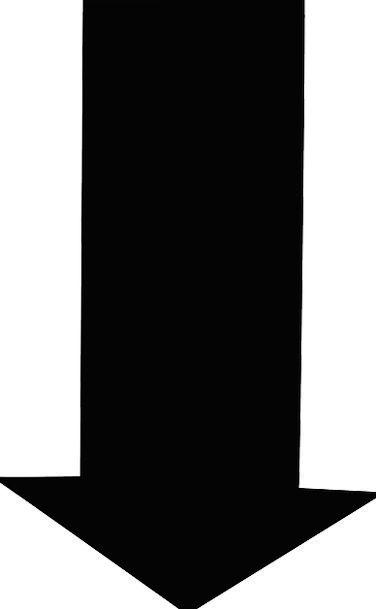 Arrow Missile Depressed Black Dark Down Shape Form