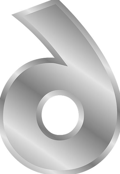 Number Amount 6 Six Free Vector Graphics Numeral C