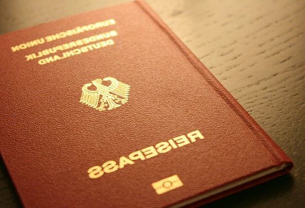 Passport ID Text Germany Document Federal Republic