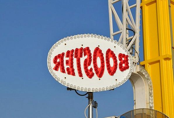 Booster Promoter Typeface Amusement Park Funfair F