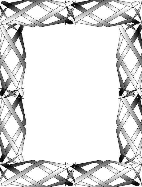 Border Edge Woven Interlaced Frame Braided Plaited