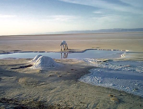Salt Lake Thirsty Statue Figurine Dry Tunisia The