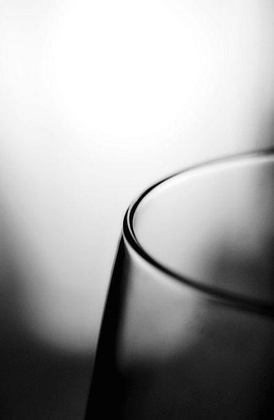 Glass Cut-glass Advantage Black And White Edge Bla