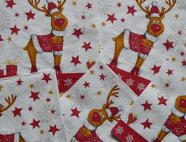 Napkins Bibs Napkin Rudolf Rudolph Reindeer Decora