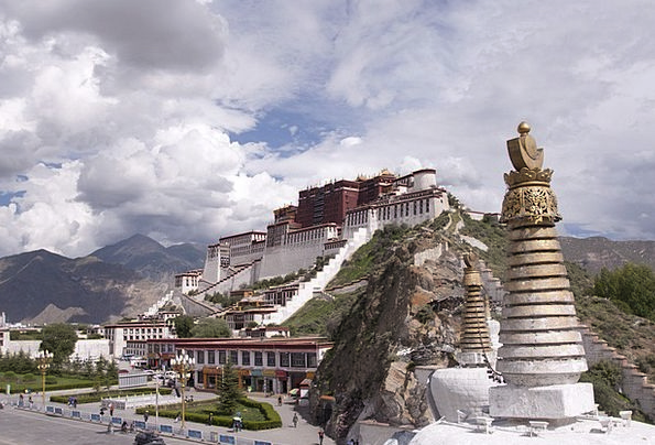 Palace Fortress Monuments Places Tibetan Tibet Bud