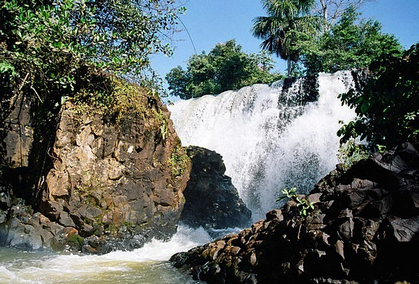 Waterfall Cascade Landscapes Nature Tangará Da Ser