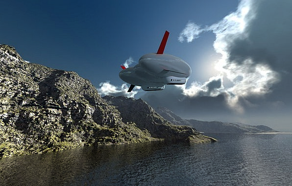 Airship Blimp 3D Computer Graphic Digital Artwork
