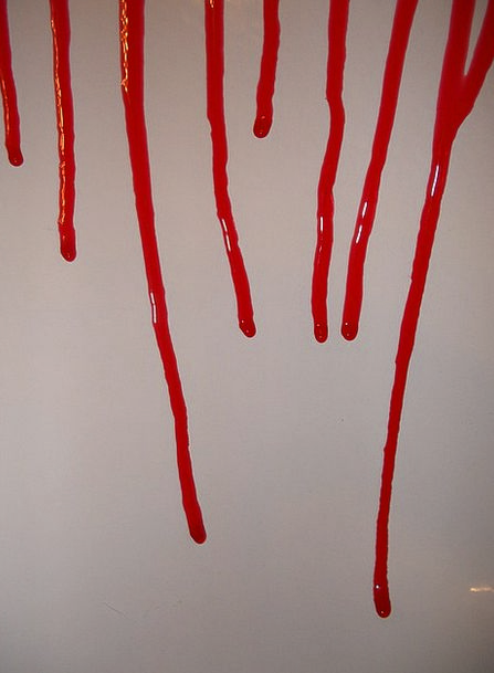 Blood Dripping Drenched Gore Runny Liquid Bloody D