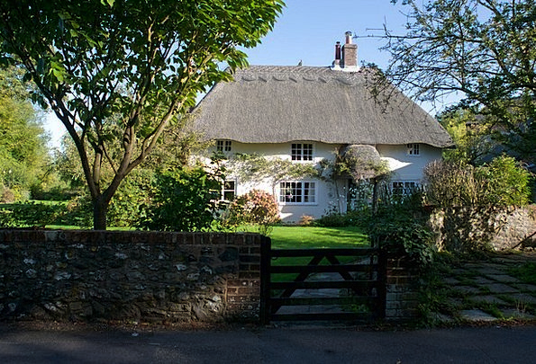 Cottage Hut Country Republic English Thatched Stra